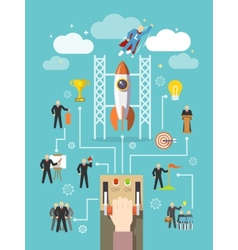 Business leadership concept vector