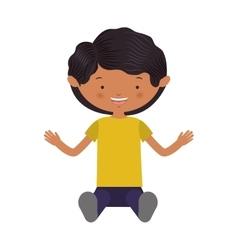 Cartoon boy smiling vector