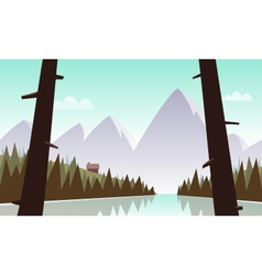 Cartoon mountain landscape vector