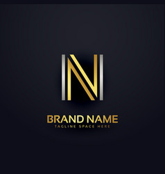 creative letter n logo design template vector image