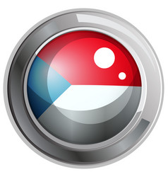 Flag of czech republic on round frame vector