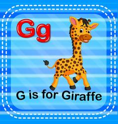 Flashcard letter g is for giraffe vector