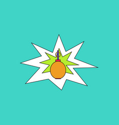 Flat icon design collection bomb explosion vector