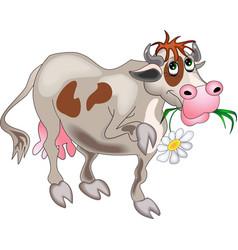 Flower cow vector