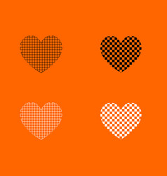 Heart with square icon vector