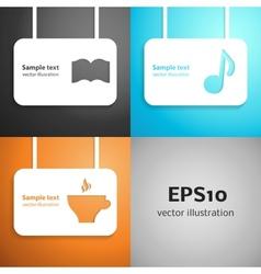 Leisure paper applique background set vector