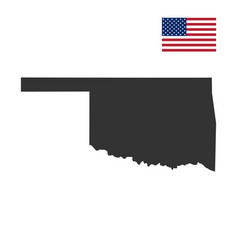 Map of the us state of oklahoma vector
