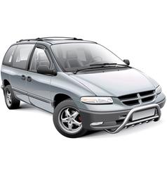 Minivan with roo bar vector