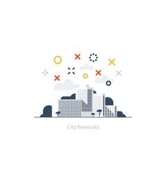 Modern city scyline vector