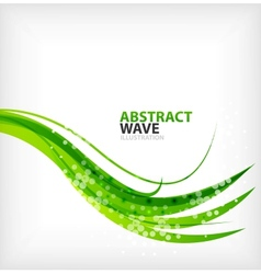 Modern green eco swirl abstraction vector image