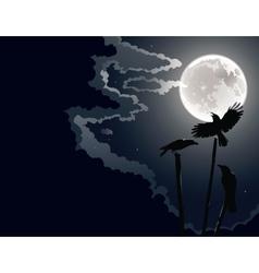 Night crows vector
