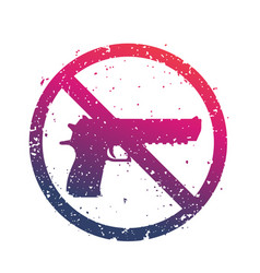 no guns sign with powerful pistol no firearms vector image vector image