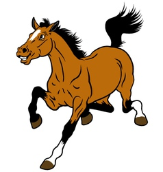 running cartoon horse vector image vector image
