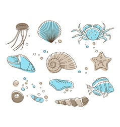 Sea collection vector