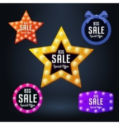 Set of sale banner and emblem vector