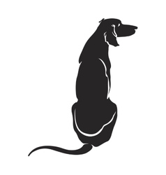 Silhouette dog sitting vector