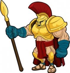 Spartan gladiator vector