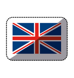 Sticker flag united kingdom classic british icon vector