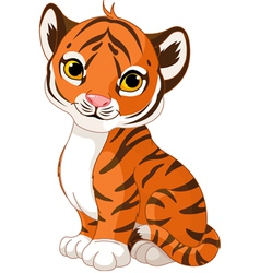 Cute tiger cub vector image