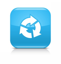 Blue arrow refresh repeat reload rotation icon vector