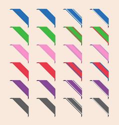 Set of corner ribbons vector