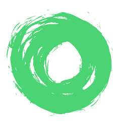 green brushstroke circle form vector image
