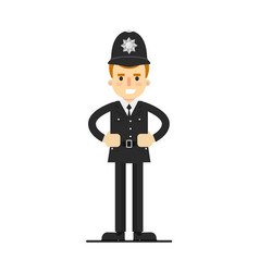 British policeman in uniform vector