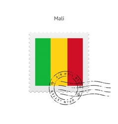 Mali flag postage stamp vector