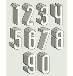 3d geometric numbers set vector