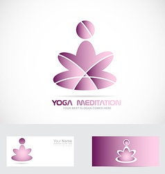 Yoga zen meditation logo vector