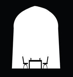 Drink with table and chair vector
