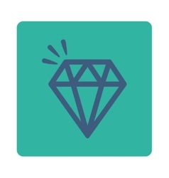 Crystal icon from commerce buttons overcolor set vector