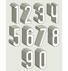 3d geometric numbers set vector