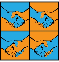 Handshake in several versions vector