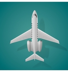 Airplane top view isolated background vector