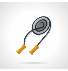 Skipping rope flat color design icon vector