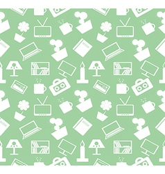 Pattern green chaotic with home decor vector