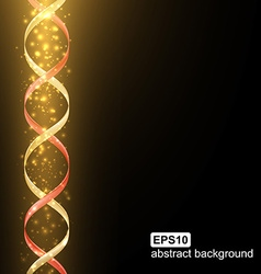 Abstract light spiral futuristic background vector image vector image