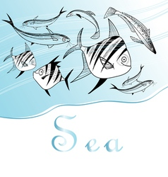 background with fishes vector image vector image