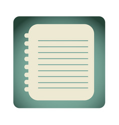 blue emblem notebook paper icon vector image