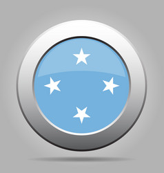Button flag - federated states of micronesia vector