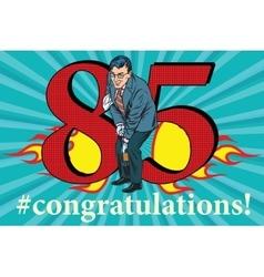 Congratulations 85 anniversary event celebration vector image vector image