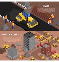Construction banners set vector