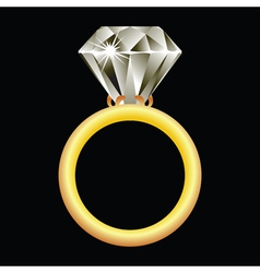 diamond ring vector image vector image