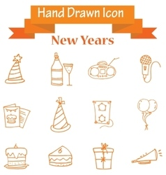 Element of new year icons collection vector