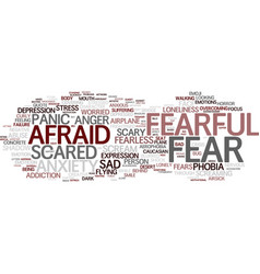 Fearful word cloud concept vector