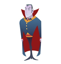 Funny cartoon dracula vampire character vector