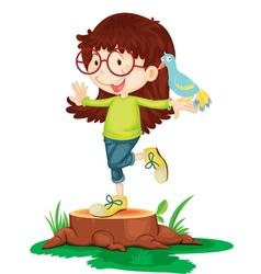 girl balancing vector image