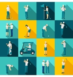 Golf people flat vector