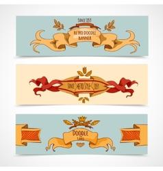 Hand Drawn Ribbons Banners vector image vector image